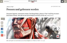 """""""Attack on Titan"""" beim """"Tagesspiegel"""""""