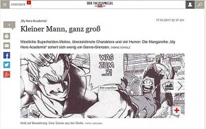 """""""My Hero Academia"""" bei Tagesspiegel Online"""